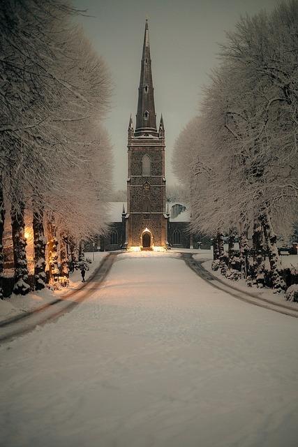 Snowy Night, Hillsborough, Northern Ireland