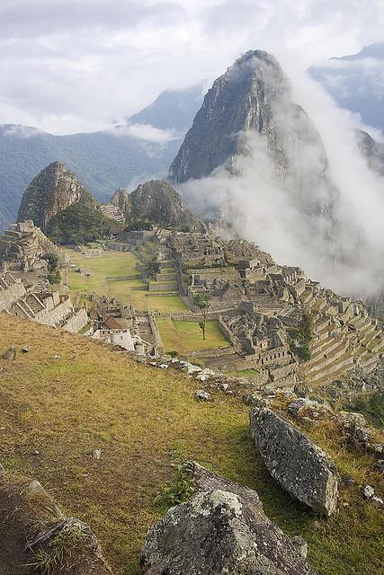 Morning mist at Machu Picchu, Peru