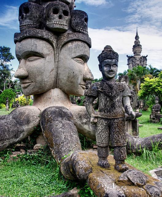 The Buddha Park in Vientiane, Laos
