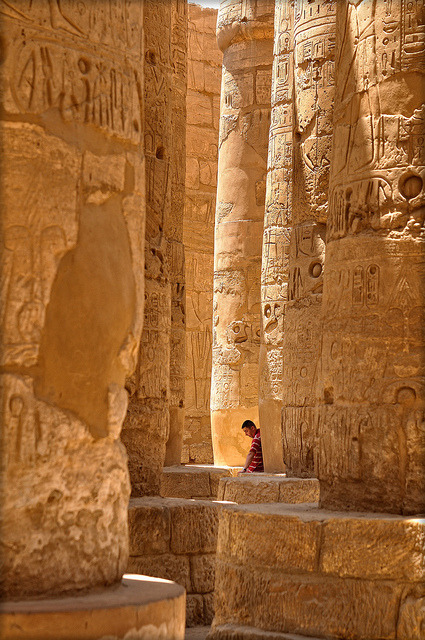 Columns of Amon Temple in Karnak/Luxor, Egypt