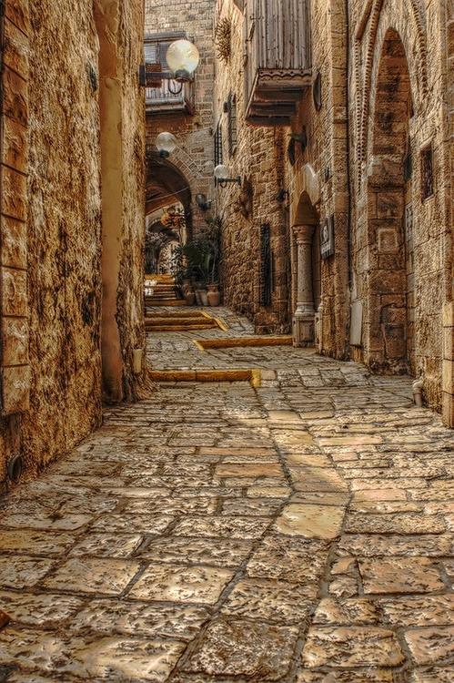 Medieval Street, Rhodes, Greece