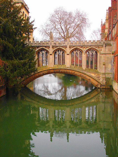 The Bridge of Sighs in Cambridge, England