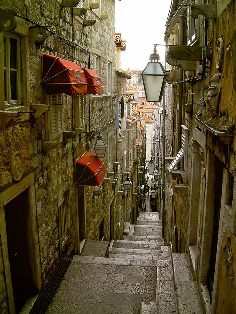 Dubrovnik steps, Croatia