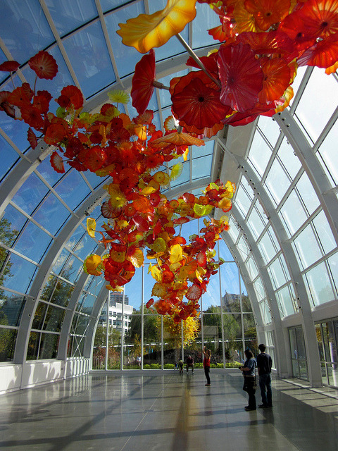 Chihuly Garden and Glass Museum in Seattle, USA