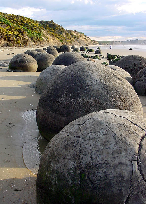 The Moeraki Boulders on Otago Coast, New Zealand