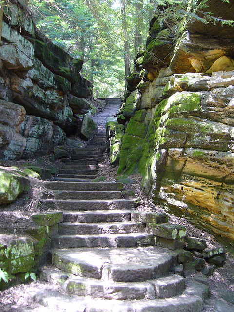 Hiking trail in Cuyahoga Valley National Park, Ohio, USA