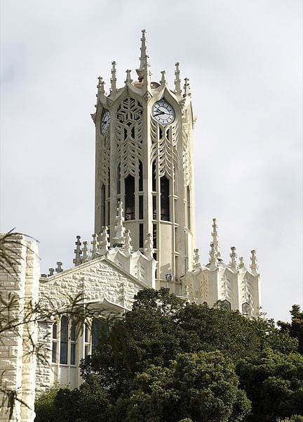 The clock tower at University Of Auckland, New Zealand