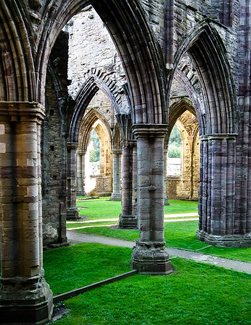 Pillars Of The Earth, ruins of Tintern Abbey, Wales