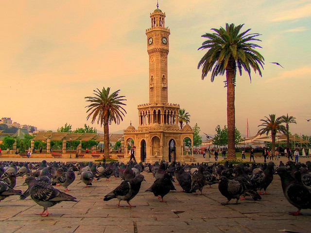 The clock tower in Konak Square, Izmir, Turkey
