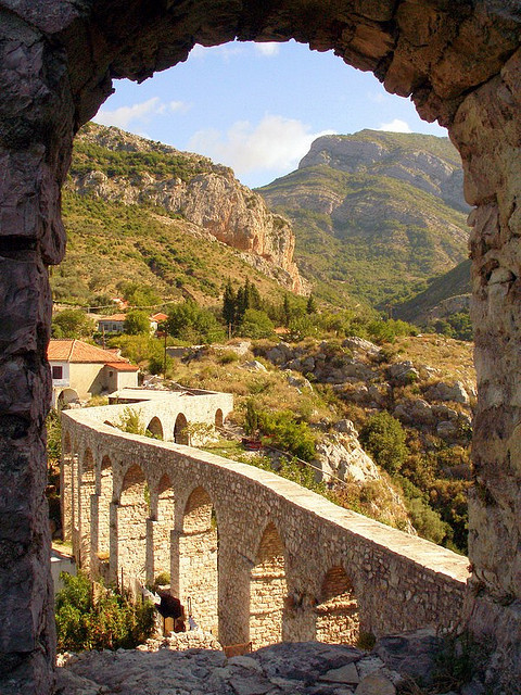 The old aqueduct of Stari Bar, Montenegro