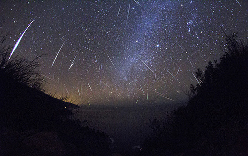 Meteor Shower at Big Sur, California