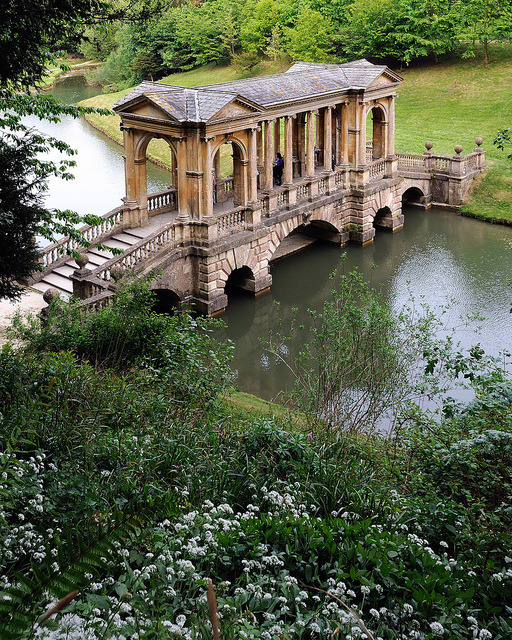 The Palladian Bridge, Wilton Estate gardens, England