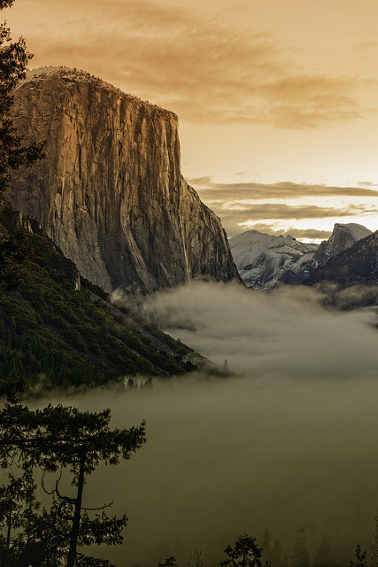 Sunrise on El Capitan, Yosemite National Park / USA