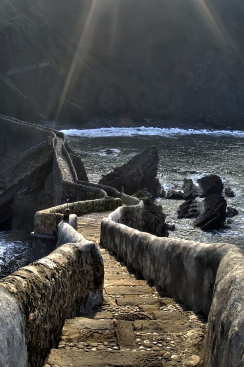The path to San Juan de Gaztelugatxe, Basque Country / Spain