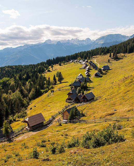 Podjelje village on Pokljuka Plateau / Slovenia