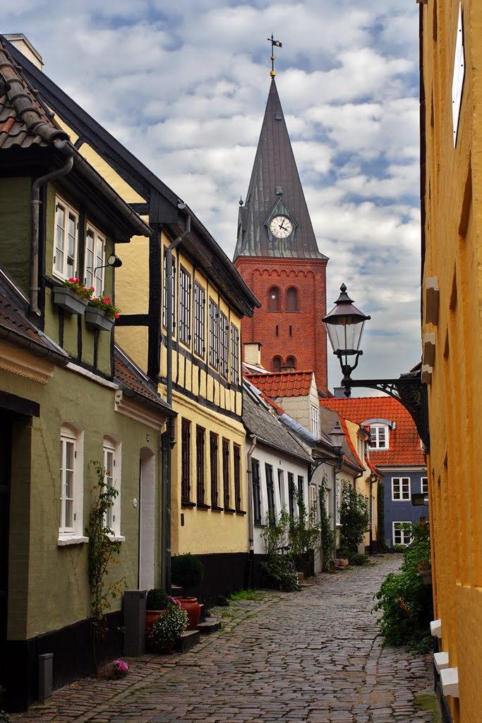The old town centre of Aalborg / Denmark