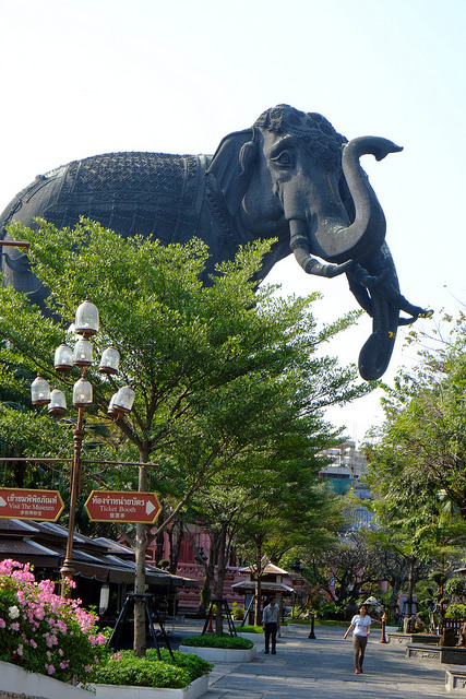Erawan Museum entrance in Bangkok / Thailand