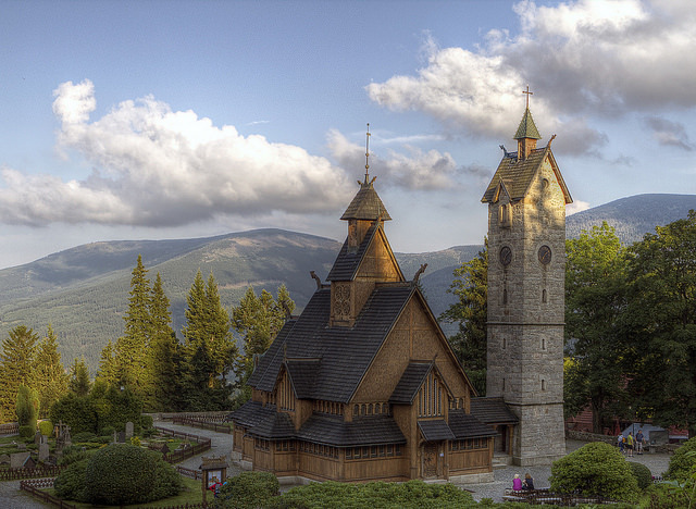 Vang stave church in Karpacz, southern Poland