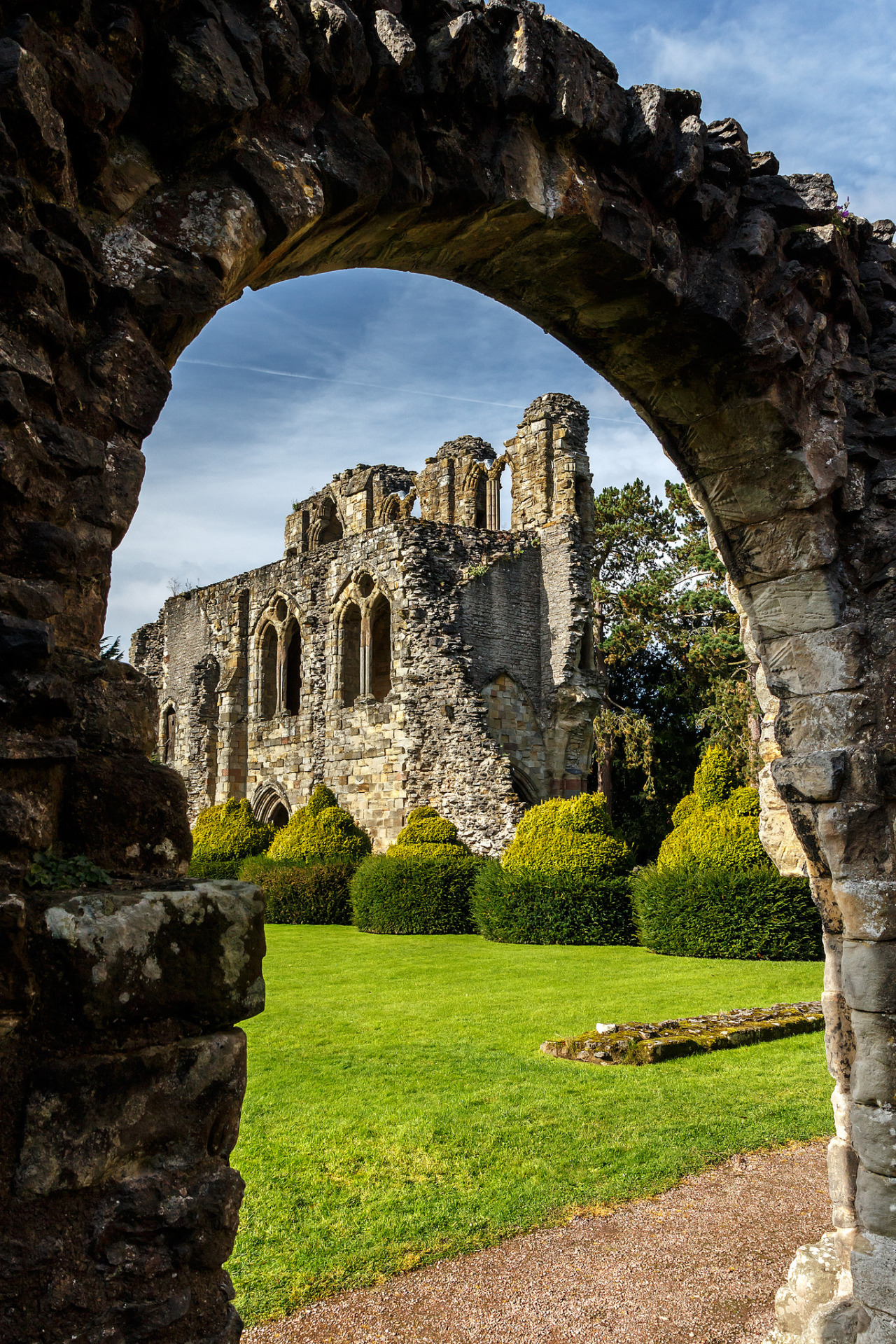 View from the Chapter House door, Wenlock Priory / England